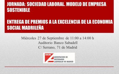 Jornada y entrega de premios a la Excelencia de la  Economía Social Madrileña