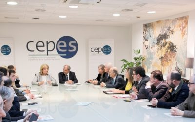 Fátima Báñez presenta en la sede de CEPES a su Junta Directiva la Estrategia Española de Economía Social