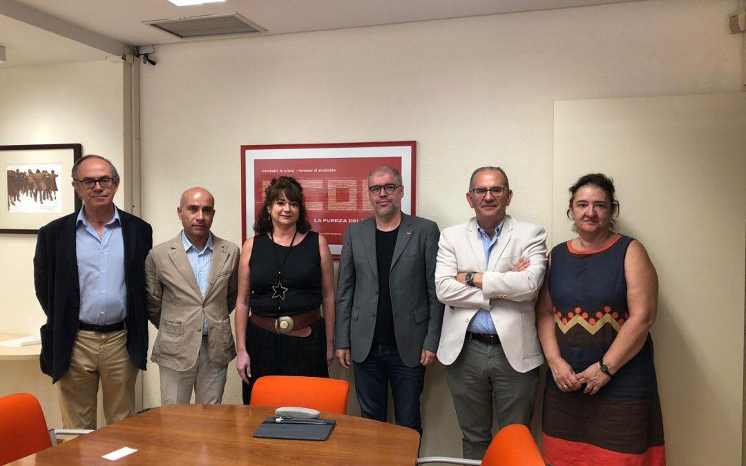 El secretario General de CC.OO., Unai Sordo ofrece su apoyo a la nueva organización de Sociedades Laborales LABORPAR